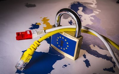 Padlock over the EU