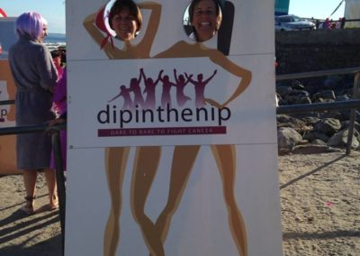Lisa Lomax and Chiara Poli pose for pic at Dip in the Nip