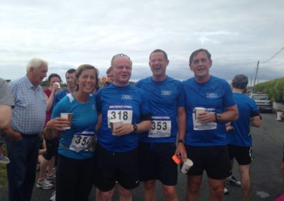 Lisa Lomax, Raymond O Boyle, Jonathan Lomax, David Craig after completing run with Tralua Trail running