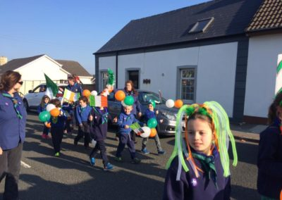 Cub Scouts in Bundoran St Patricks Day parade