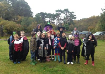 Beavers in Halloween costume at Millsite Ballintrillick