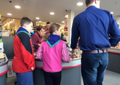 Bag packing by cubs in Super Valu Grange