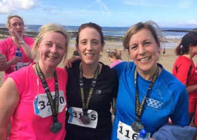 Natasha Donlon, Carmel Flannery and Lisa Lomax after Cara Run Bundoran