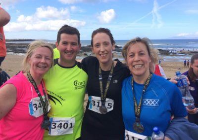 Natasha & Leo Donlon, Carmel Flannery & Lisa Lomax after Cara Run Bundoran
