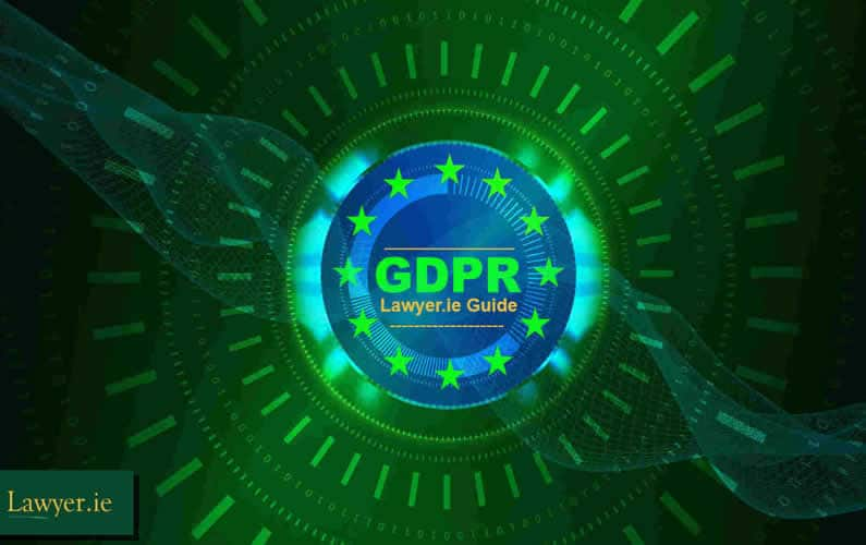 GDPR in blue circle with green background