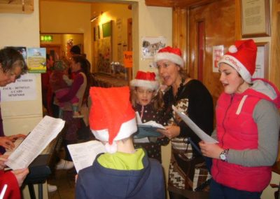 Singing at Ballintrillick Environmental Group Xmas Fair