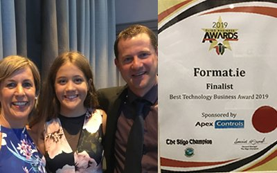 Finalist, Best Technology Business Award, Sligo Business Awards 2019