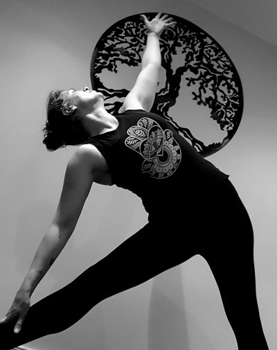 Warrior Yoga Sligo in pose