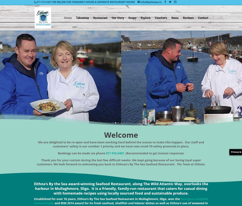Eithnas Restaurant Website Screenshot