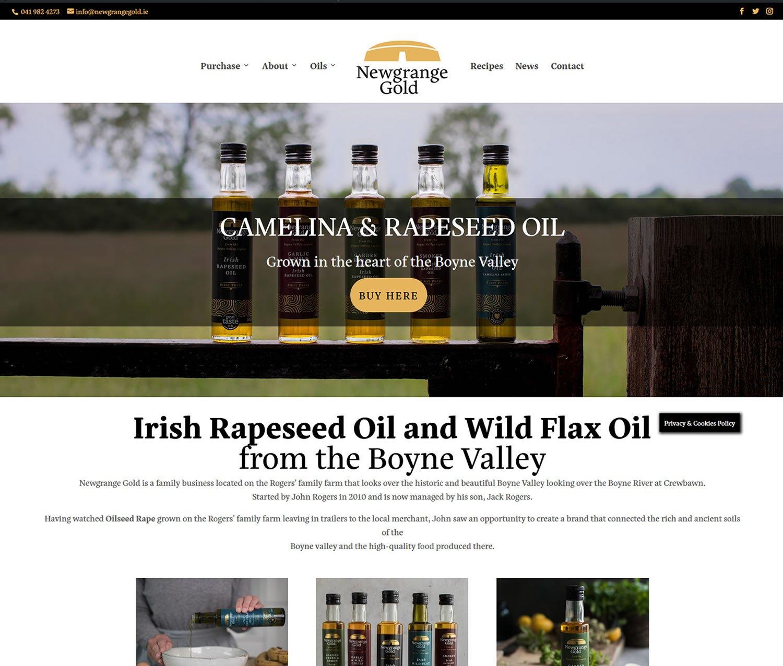 Newgrange Gold Website Screenshot