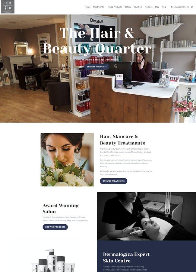 Hair & Beauty Quarter E Commerce Site