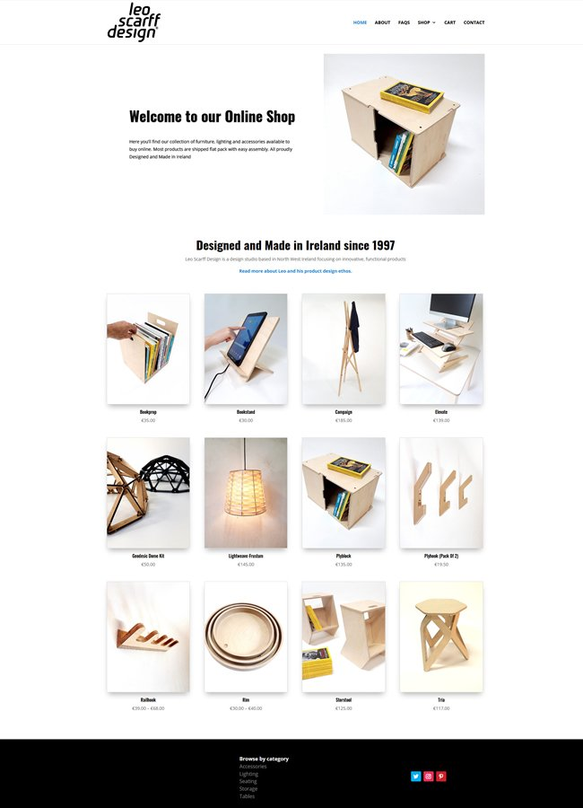 Leo Scarff E Commerce Website