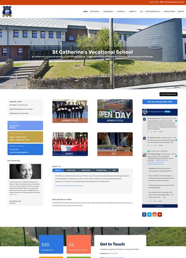 St Catherines Vocational School website