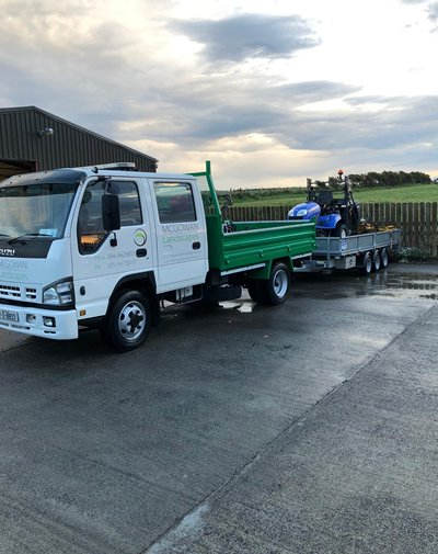 McGowan Landscapes Truck and Trailer
