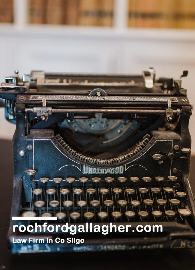 Rochford Gallagher's old fashioned typewriter