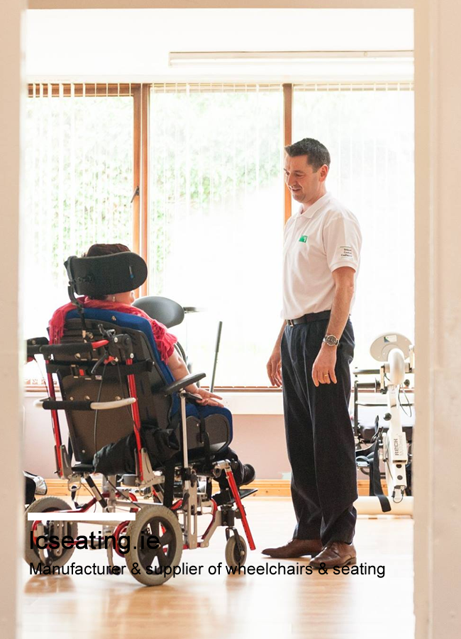 LC Seating providing wheelchair to customer